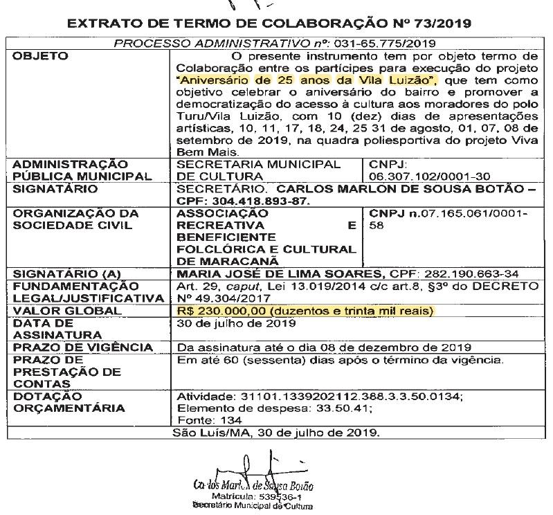 VILA-LUIZÃO Após receber R$ 230 mil para realização de evento na Vila Luizão, vereador Marquinhos declara apoio a Osmar Filho