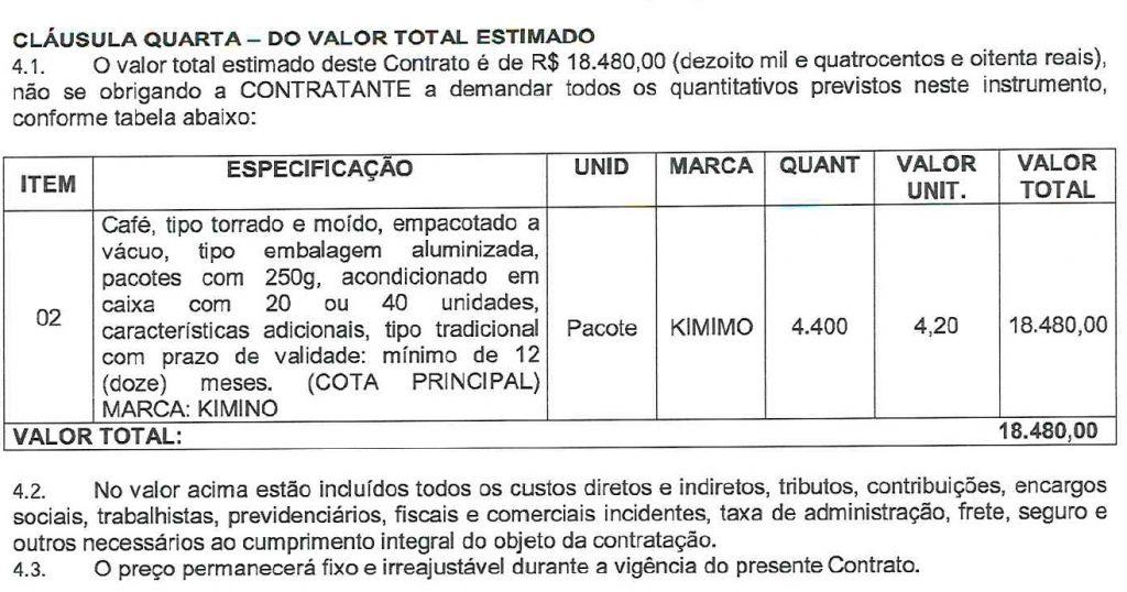 CAFE-1024x538 Secretária de Ribamar vai gastar quase R$ 20 mil com cafezinho