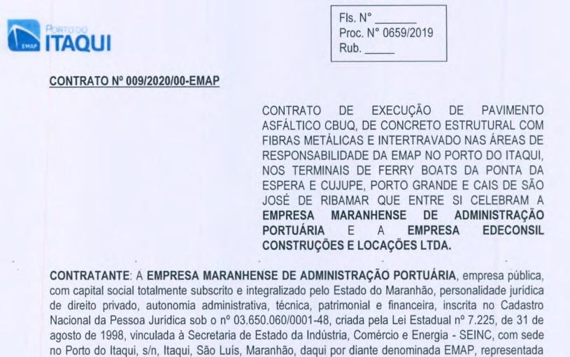 EMAP Construtora Edeconsil ganha R$ 26 milhões da EMAP para pavimento asfáltico