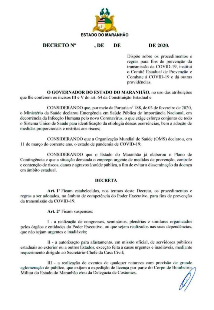01-1-707x1024 Flávio Dino edita decreto de combate ao Coronavírus