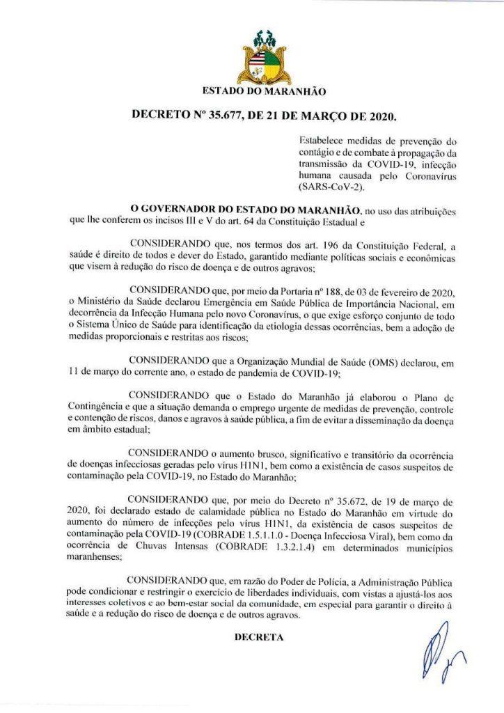 01-2-724x1024 Flávio Dino anuncia o fechamento do comercio no Maranhão