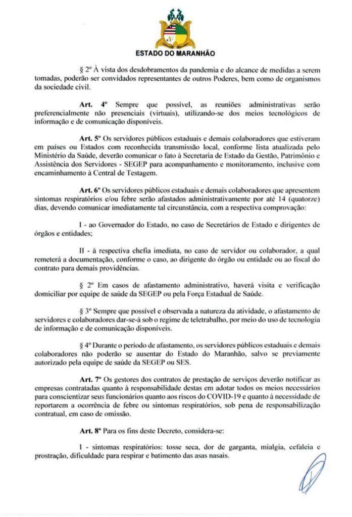 03-1-697x1024 Flávio Dino edita decreto de combate ao Coronavírus
