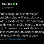 URGENTE: Maranhão confirma o primeiro caso de coronavírus