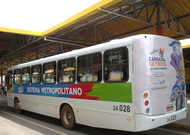 Ônibus do Expresso Metropolitano. Foto: Jackson Barbosa / Ilha Bus