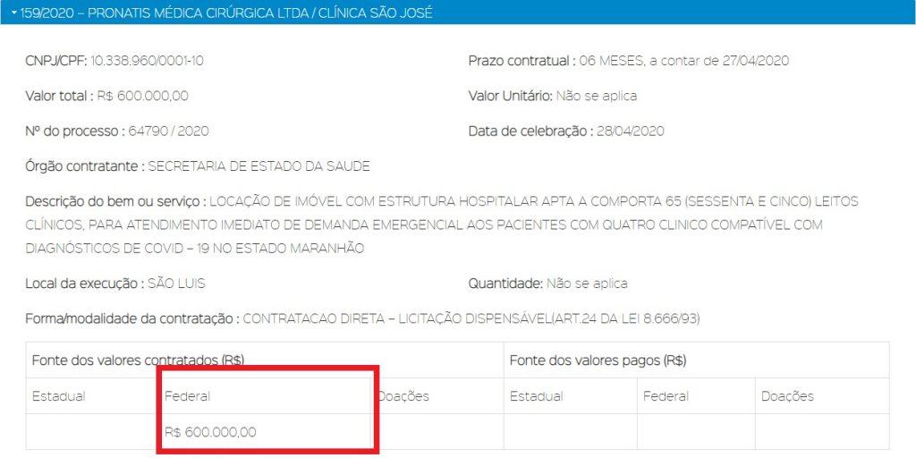 clinica-sao-jose-1024x512 TRANSPARÊNCIA! Leitos da Clinica São José foram locados com dinheiro federal