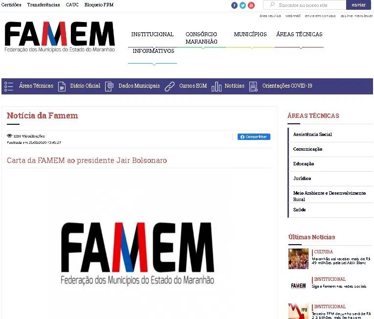 Famem FAMEM silencia diante de declaração de Flávio Dino que prefeitos estariam inflando dados do Covid-19