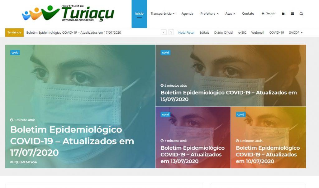 site-da-prefeitura-1024x603 Mesmo após representação do TCE, prefeito de Turiaçu continua omitindo gastos do Covid-19