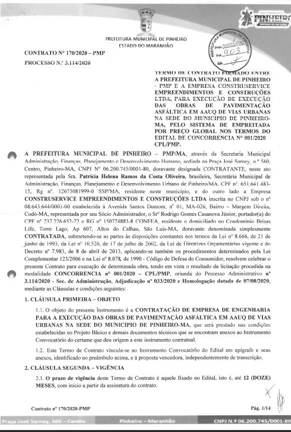 pinheiro Gestão de Luciano Genésio, em Pinheiro, contrata por R$ 3,7 milhões empresa envolvida em fraudes e agiotagem