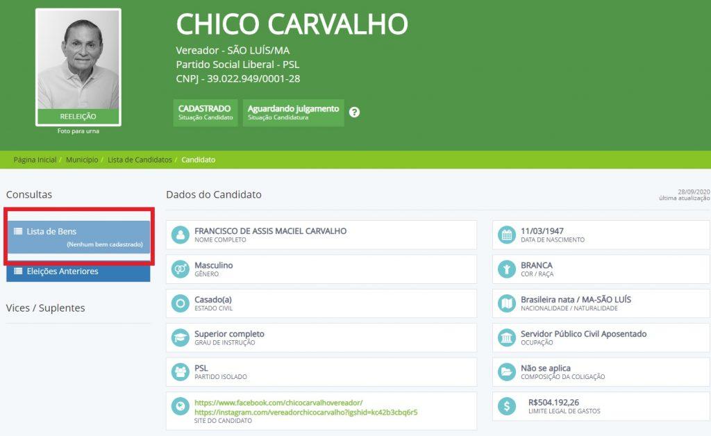 chico-carvalho-1024x628 Vereador há 32 anos, Chico Carvalho não declarou nenhum bem ao TSE