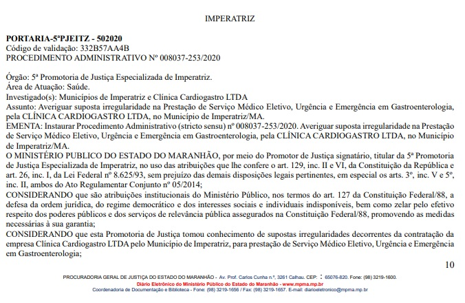 01 Candidato a prefeito de Açailândia é investigado pelo o MP por suposta irregularidade em Hospital de Imperatriz