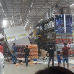 URGENTE! Prateleiras de um supermercado do Grupo Mateus desaba em cima dos clientes em São Luís
