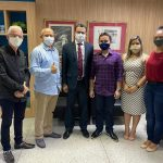 Prefeito eleito de Turiaçu, Edésio Cavalcanti e equipe encontra-se com secretário da Saúde, Carlos Lula