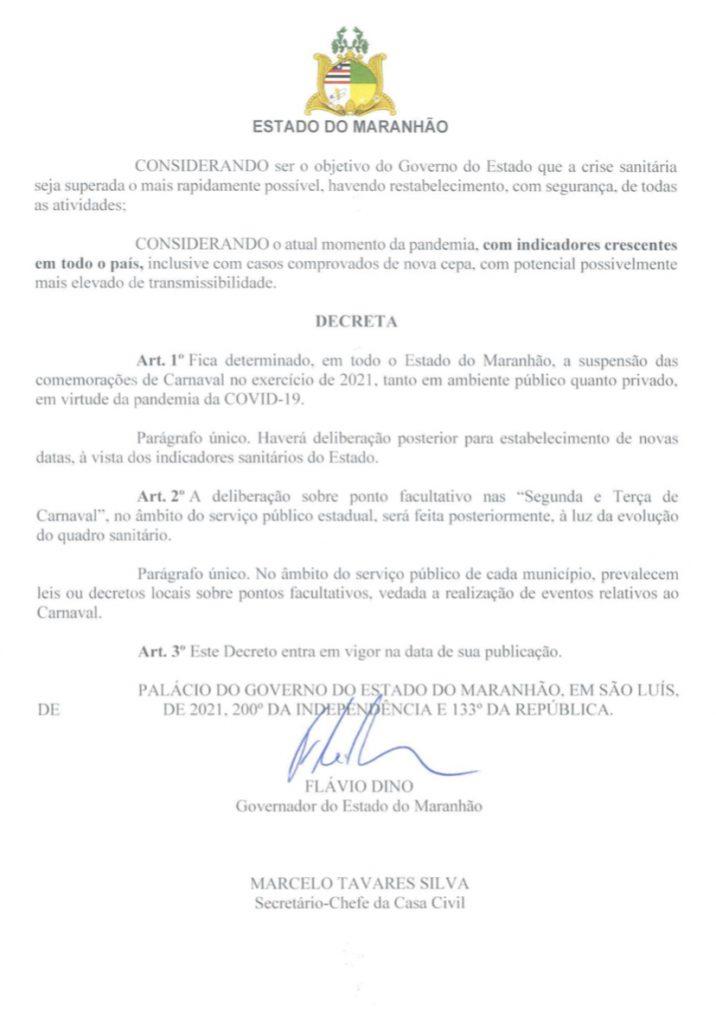 5D35C4B0-43CD-4BBC-9E0B-B523A7CA00FA-716x1024 Governo não confirma ponto facultativo nos dias de carnaval do Maranhão; veja o decreto