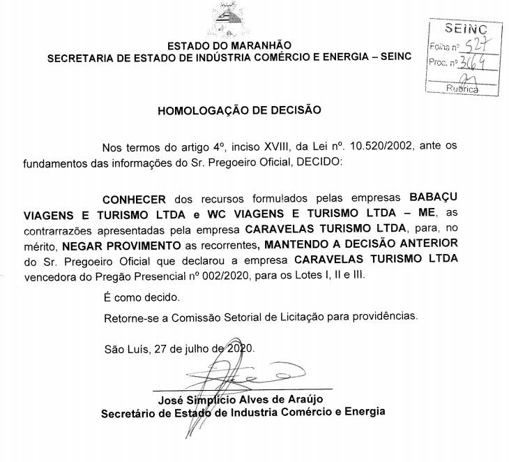Agencia-de-Viagens Contrato com agência de viagens na gestão de Simplício Araújo na SEINC é investigado pelo MP