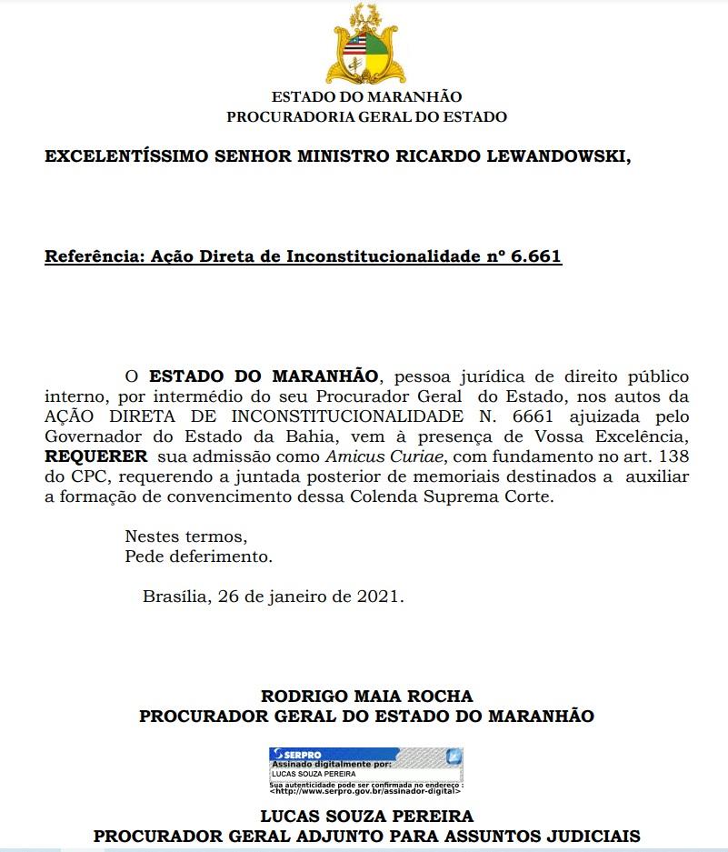 Maranhao-vacina-Russa Governo do Maranhão pede ao STF participação na ação da Bahia para obter vacina russa
