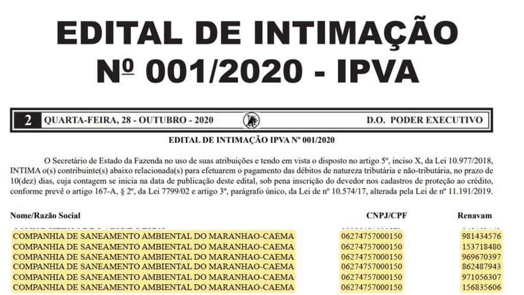 CAEMA-1024x576 Governo do Maranhão volta a colocar a CAEMA na dívida ativa do Estado