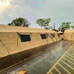 Governo do MA recebe hospital de campanha doado pelos EUA, em Bacabal