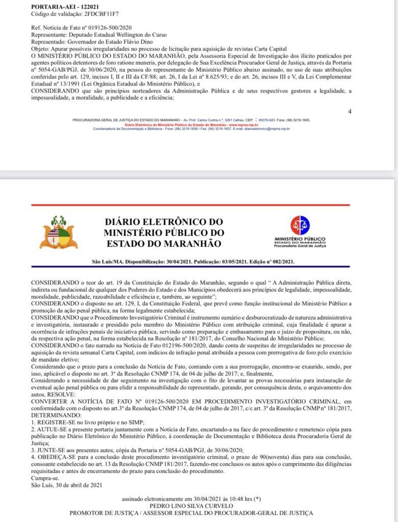 B7AA32B1-F6CA-48B5-9B30-8631F98664EB-781x1024-1 Contrato entre a revista Carta Capital e a gestão de Flávio Dino vira alvo de investigação criminal pelo MP no MA