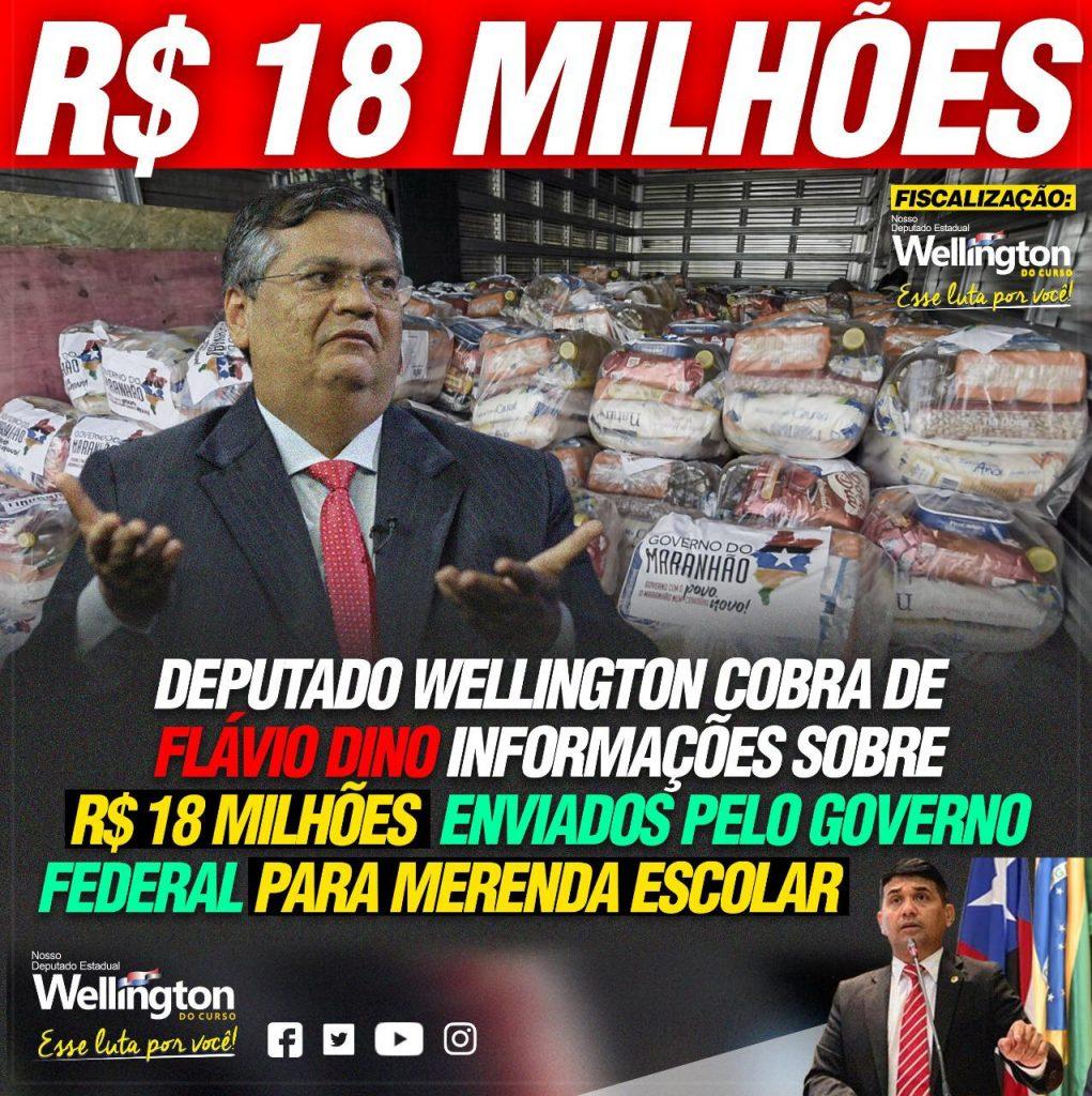 5d9ee99c-d1b1-413a-8f53-b76b28b41d4c-1021x1024 Wellington cobra de Flávio Dino informações sobre R$ 18 milhões enviados pelo governo federal para merenda escolar