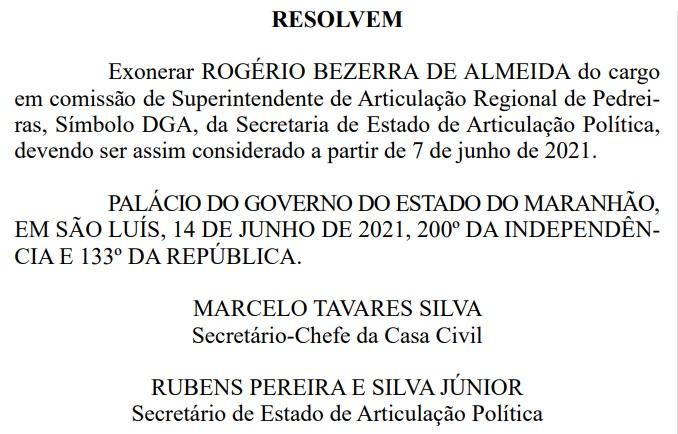 Exoneracao Alvo da PF no governo Flávio Dino é exonerado do cargo após operação