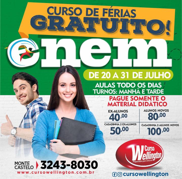 Screenshot_20210718-1309022 Com reabertura para o dia 20, Curso Wellington inicia turmas para o concurso do Banco do Brasil, Enem e CFO/UEMA